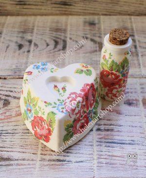 Helen ART Shop - Dekupaj Süslemeli Kokulutaş Aromalık ve Aroma Setleri